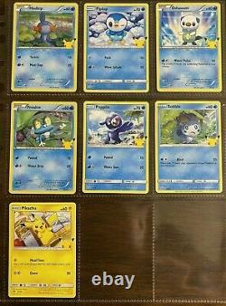 Full HOLO Set all 25 POKEMON CARDS HOLO McDonalds 2021 25th Anniversary