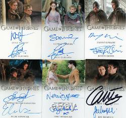 Game of Thrones Inflexions Complete Set of ALL 19 Dual Autograph Trading Cards