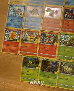 MASTER SET COMPLETE! 2021 McDonalds Pokemon Holo 25th Anniversary All 50 Cards