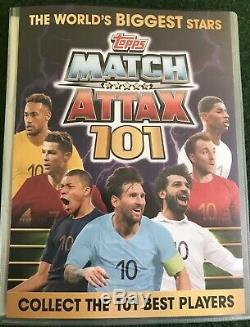 Match Attax 101 2019 Full Set Of All 192 Cards In Binder + Limiteds Mint