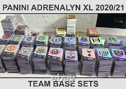 Panini Adrenalyn XL 2020/21 Premier League Full Complete Team Sets Choose