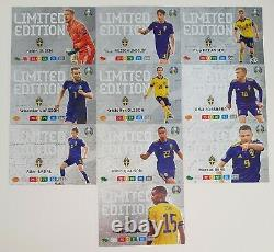 Panini EURO 2020 Adrenalyn XL. FULL SET of ALL 10 SWEDEN Limited Edition cards