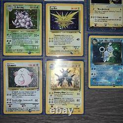 Pokemon 14 Card Lot Base Set To Team Rocket Set All Holo LP To DMGD