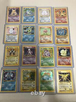 Pokemon 1999 Complete Base Set 102 Cards All Holo Cards RARE Charizard Ect