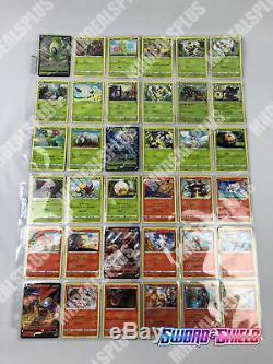 Pokemon TCG SWORD & SHIELD COMPLETE 186 CARD SET ALL VMAX V HOLO RARE UNC COM