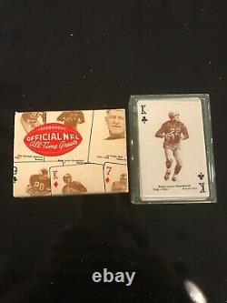 RARE 1963 Official NFL All Time Greats Stancraft Playing Cards SET NM-MT WithBox