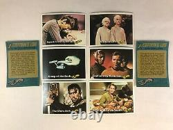 STAR TREK TOPPS 1976 Vintage Complete 88 Card Set with ALL 22 STICKERS & WRAPPER