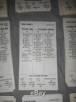 Strat o Matic Baseball COMPLETE 1984 MLB season card set All Additional Cards