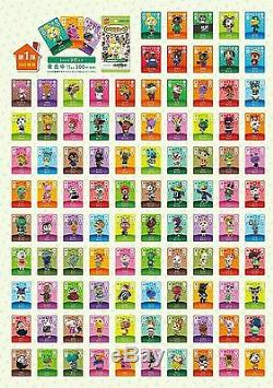 Wii U 3DS Animal Crossing amiibo Vol. 1st ed All 100 Cards Complete Set JAPAN F/S