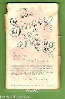 #d18. Set Of 1894 Singer Sewing Machine Costume Of All Nations Cards